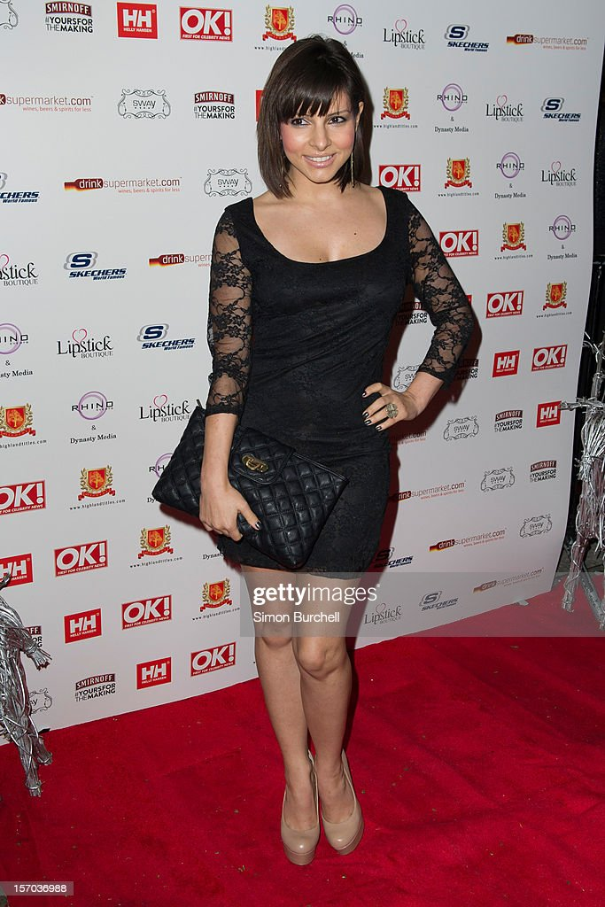 Roxanne Pallett attends the OK Magazine Christmas Party at Sway on November 27 2012 in London England