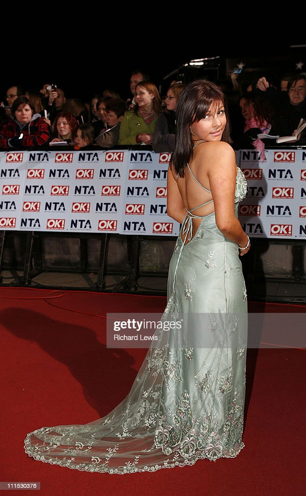 Roxanne Pallett during 12th Anniversary National Television Awards Arrivals at Royal Albert Hall in London Great Britain
