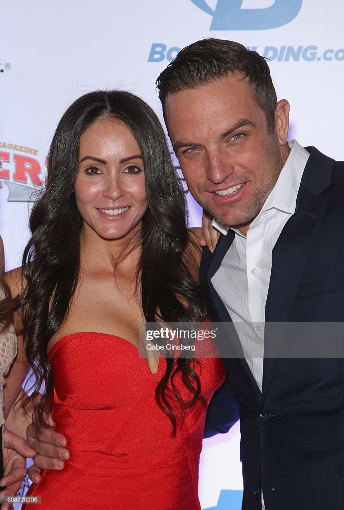 Roxanne Siordia (L) and her husband, BMX rider and television host T.J. Lavin, attend the eighth annual Fighters Only World Mixed Martial Arts Awards at The Palazzo Las Vegas on February 5, 2016 in Las Vegas, Nevada.