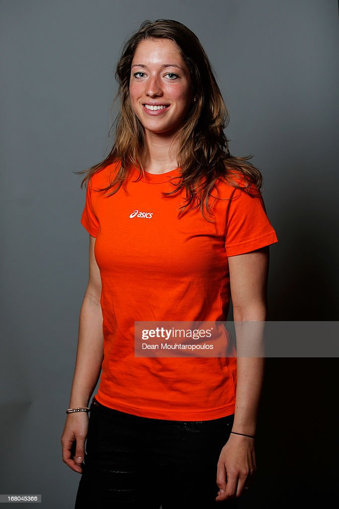 Roxanne van Hemert, poses during the NOC*NSF (Nederlands Olympisch Comite * Nederlandse Sport Federatie) Sochi athletes and officials photo shoot for Asics at the Spoorwegmuseum on May 4, 2013 in Utrecht, Netherlands.
