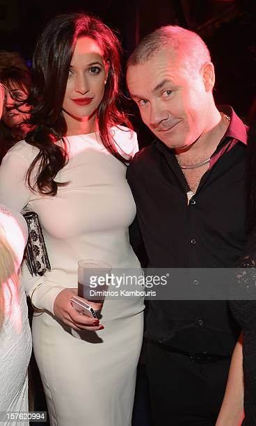 Roxie Nafousi and artist Damien Hirst attend the Art Basel Miami Kick Off Celebration hosted by Jay Jopling Nick Jones at Soho Beach House on...