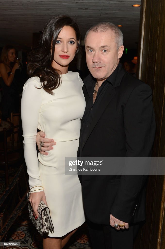 Roxie Nafousi and artist <a gi-track='captionPersonalityLinkClicked' href=/galleries/search?phrase=Damien+Hirst&family=editorial&specificpeople=215142 ng-click='$event.stopPropagation()'>Damien Hirst</a> attend the Art Basel Miami Kick Off Celebration hosted by Jay Jopling & Nick Jones at Soho Beach House on December 4, 2012 in Miami Beach, Florida.