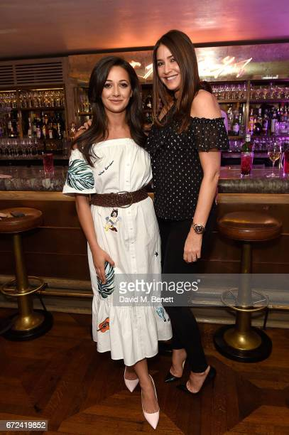 Roxie Nafousi and Lisa Snowdon attend the VIP dinner to celebrate Urban Decay's arrival at Selfridges London on April 24 2017 in London England