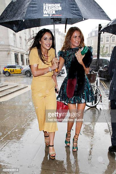 Roxie Nafousi and Millie Mackintosh seen leaving The Freemasons Hall after attending the Felder Felder S/S 2016 Show on September 18 2015 in London...