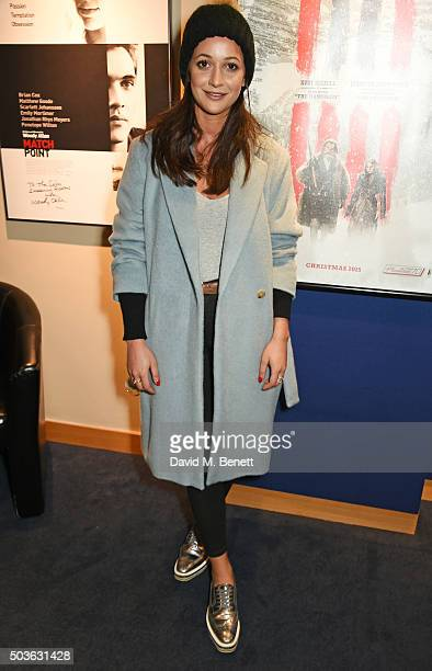 Roxie Nafousi attends a special screening of 'The Hateful Eight' hosted by The Weinstein Company at the Soho Screening Rooms on January 6 2016 in...