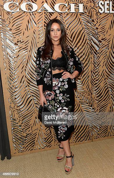 Roxie Nafousi attends the launch of Coach at Selfridges hosted by Stuart Vevers at Selfridges on September 18 2015 in London England