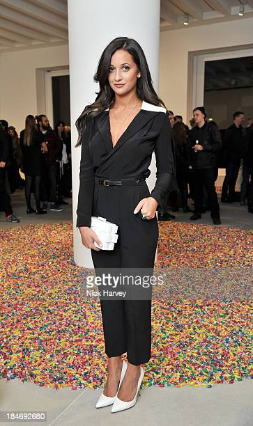 Roxie Nafousi attends the private view for Damien Hirst and Feliz GonzalezTorres' 'Candy' at Blain Southern on October 15 2013 in London England