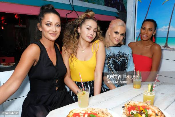 Roxie Nafousi Ella Eyre Pixie Lott and Rochelle Humes pictured at the VIP launch of Just Eat Food Fest Desert Island Dishes in Red Market London The...