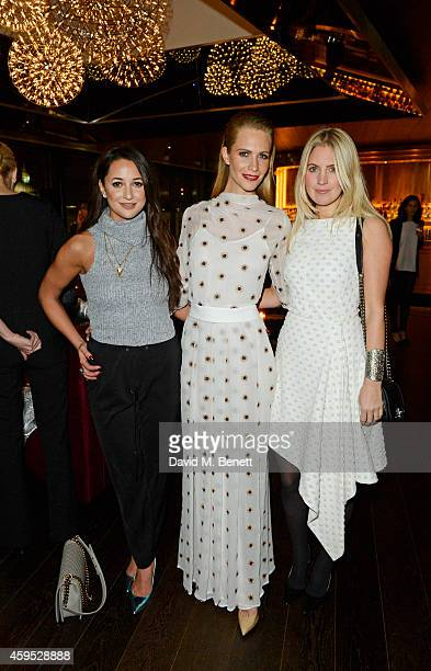 Roxie Nafousi Poppy Delevingne and Marissa Montgomery attend as Osman Yousefzada and Poppy Delevingne celebrate the launch of the fourth issue of...