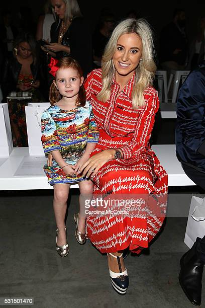 Roxy Jacenko and daughter Pixie Curtis attend the MercedesBenz Presents Maticevski show at MercedesBenz Fashion Week Resort 17 Collections at The...