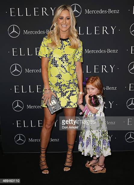 Roxy Jacenko and her daughter PixieRose Curtis attend the MercedesBenz Presents Ellery show at MercedesBenz Fashion Week Australia 2015 at...