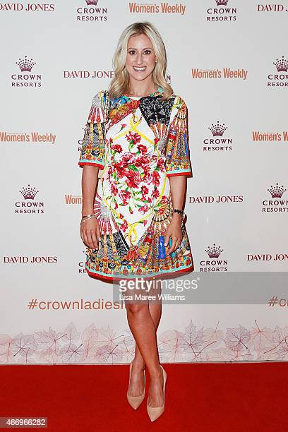 Roxy Jacenko arrives at the Crown's Autumn Ladies Lunch at David Jones Elizabeth Street Store on March 20 2015 in Sydney Australia