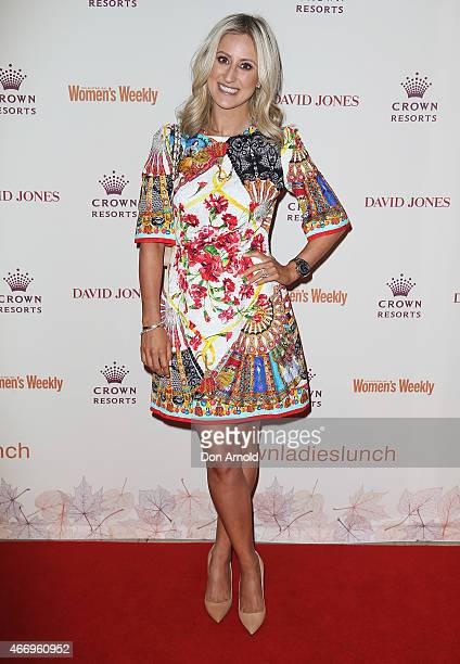Roxy Jacenko poses at the Crown's Autumn Ladies Lunch at David Jones Elizabeth Street Store on March 20 2015 in Sydney Australia
