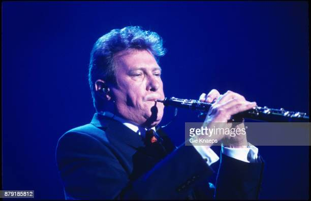 Roxy Music Andy Mackay performing on stage Rock Werchter Festival Werchter Belgium July 2001