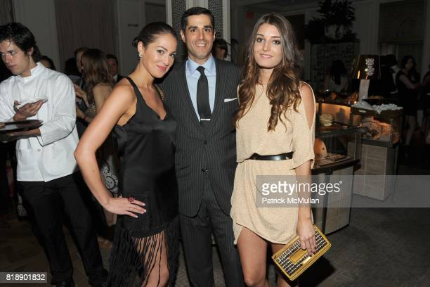 Roxy Olin Jim Gold and Samantha Swetra attend HP CONDE NAST and BERGDORF GOODMAN 'Sex The City 2' After Party at Bergdorf Goodman on May 25 2010 in...