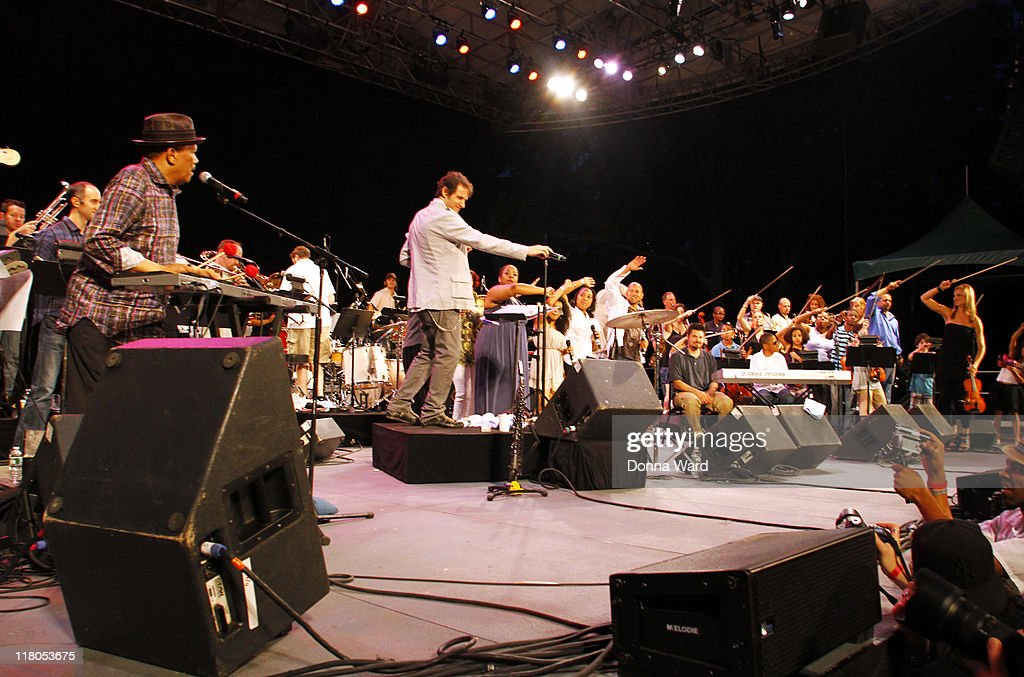 Roy Ayers, Adam Theis and Jazz Mafia perform at the Central Park SummerStage on July 2, 2011 in New York City.