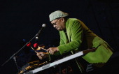 Roy Ayers during Jazz Fusion Feat Roy Ayers Jon Lucien Jean Carne and Ronnie Laws in Concert July 5 2006 at Chene Park in Detroit Michigan United...