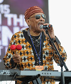 Roy Ayers of the Jazz in the Gardens Allstar Band performs onstage at the 10th Annual Jazz in the Gardens Celebrating 10 Years of Great Music at Sun...
