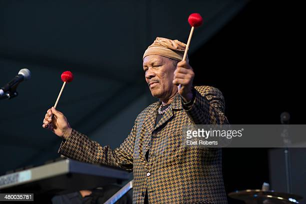 Roy Ayers performs at the New Orleans Jazz and Heritage Festival at the Fairgrounds Race Course in New Orleans Louisiana on May 2 2013