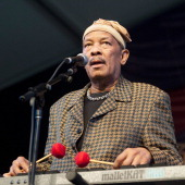 Roy Ayers performs during the 2013 New Orleans Jazz Heritage Music Festival at Fair Grounds Race Course on May 2 2013 in New Orleans Louisiana