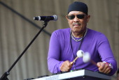 Roy Ayers performs on stage during day three of the Playground Weekender Music Festival at Wisemans Ferry on February 19 2011 in Sydney Australia