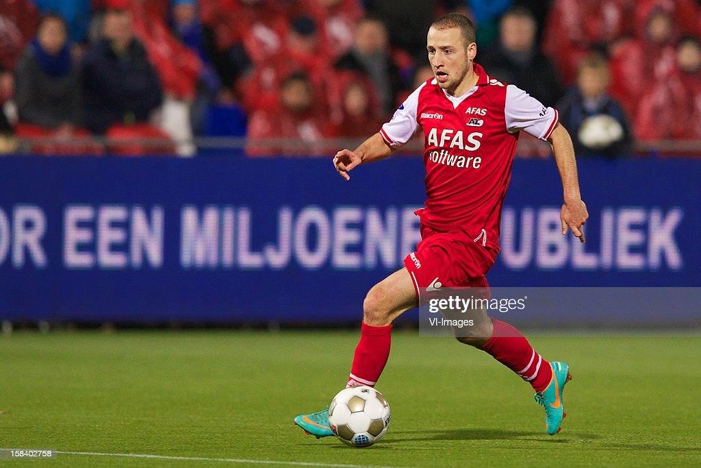Roy Beerens of AZ during the Dutch Eredivisie match between PEC Zwolle and AZ Alkmaar at the IJsseldelta Stadium on December 15, 2012 in Zwolle, The Netherlands.