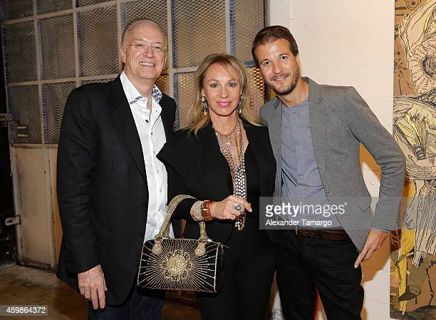 Roy Black Lea Black and Jason Clarke attend Wynwood Walls Presents The Art Of Collaboration Opening Night Party at Wynwood Walls on December 2 2014...