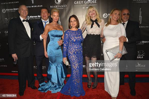 Roy Black Mr and Mrs Steven Mariano Gloria Estefan Courtney Love and Lea Black attend The Blacks' Annual Gala at Fontainebleau Miami Beach on October...