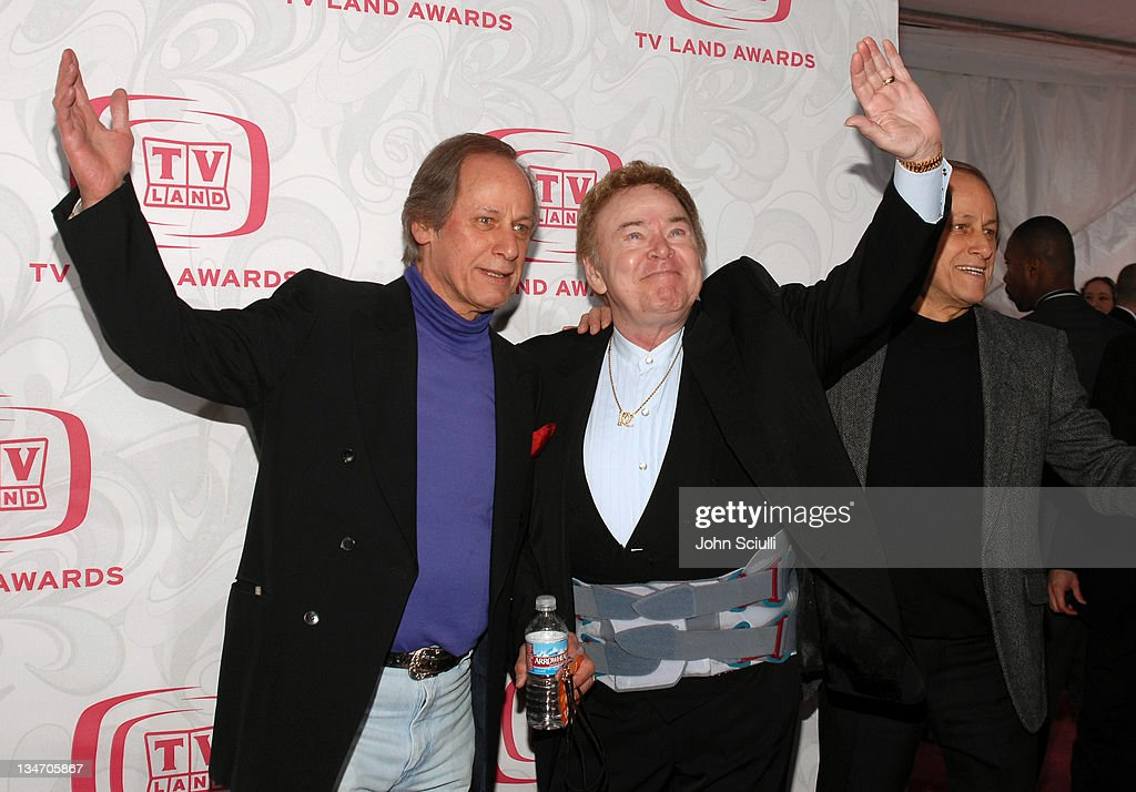 Roy Clark (center) with Jim Hager and Jon Hager during 5th Annual TV Land Awards - Arrivals at Barker Hanger in Santa Monica, CA, United States.