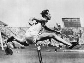Roy Cochran of the USA competing in the 400 metres hurdles at the Olympic Games London July 1948 Cochran won the gold medal in the event