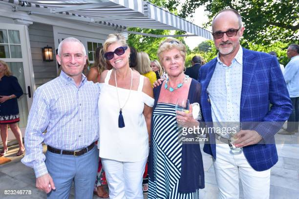 Roy Cohen Carol Nobbs Joanna Miuccio and Arthur Dunnam attend Kickoff for Second Annual Walk of Hope 5K Run at Fairwind on July 21 2017 in...