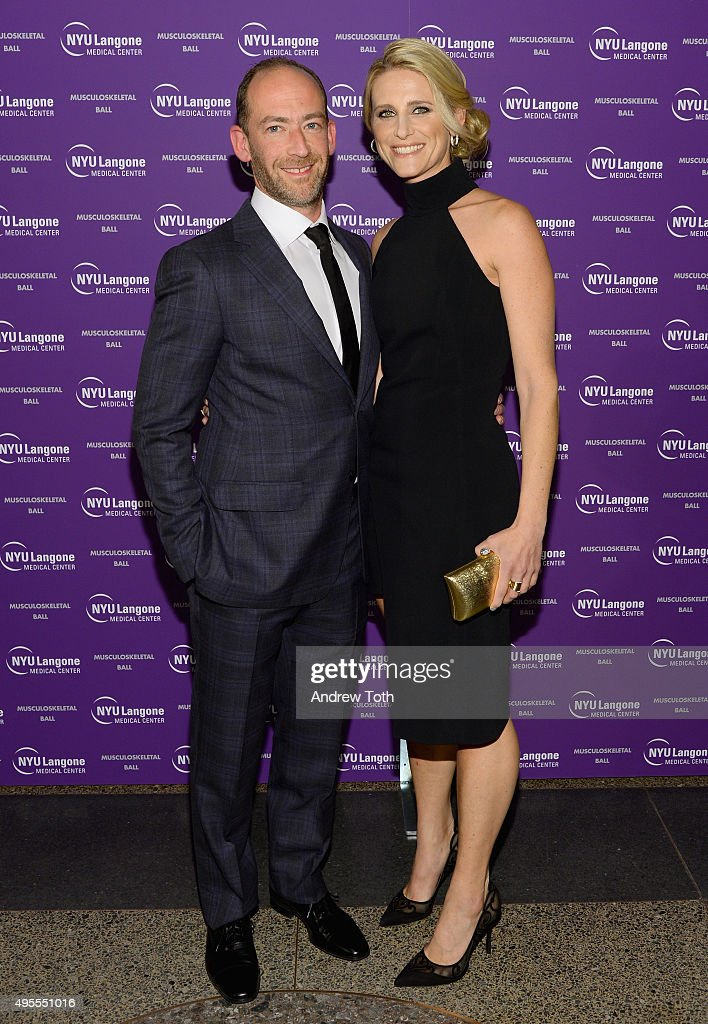 Roy Davidovitch MD. (L) and a guest attend NYU Langone Musculoskeletal Ball 2015 on November 3, 2015 in New York City.