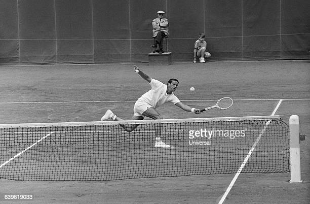 Roy Emerson from Australia during the 1967 French Internationals at Roland Garros