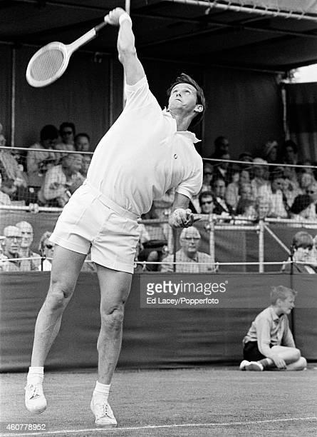 Roy Emerson of Australia in action circa June 1968