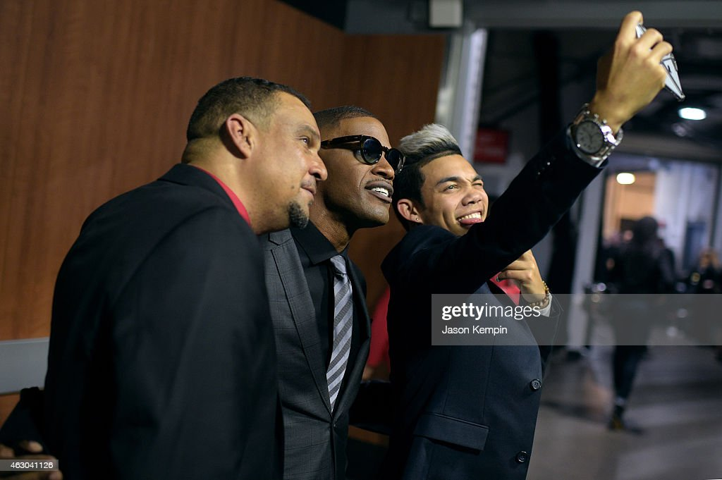 Roy Fegan Jamie Foxx and Roshon Fegan attend The 57th Annual GRAMMY Awards at STAPLES Center on February 8 2015 in Los Angeles California