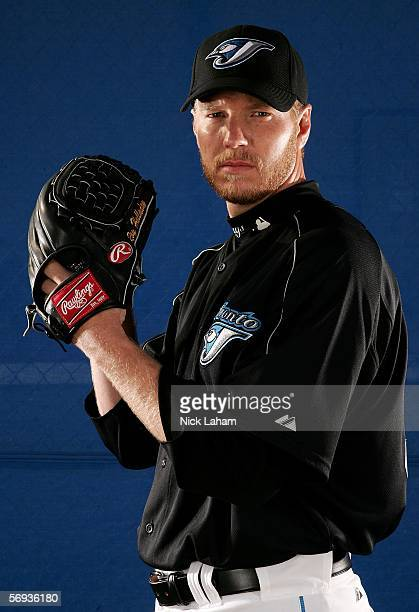 Roy Halladay of the Blue Jays poses for a portrait during the Toronto Blue Jays Photo Day on February 25 2006 at the Bobby Mattick Training Center in...