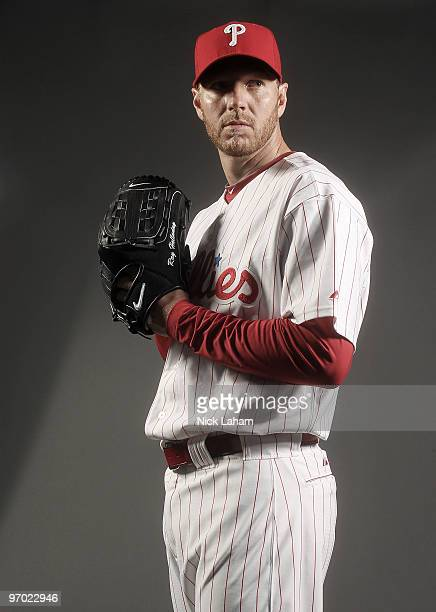 Roy Halladay of the Philadelphia Phillies poses for a photo during Spring Training Media Photo Day at Bright House Networks Field on February 24 2010...