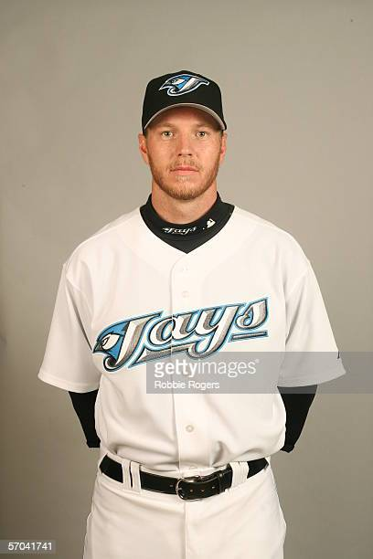 Roy Halladay of the Toronto Blue Jays during photo day at Dunedin Stadium on February 25 2006 in Dunedin Florida