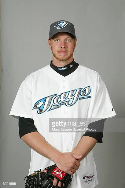 Roy Halladay of the Toronto Blue Jays on March 1 2004 in Dunedin Florida