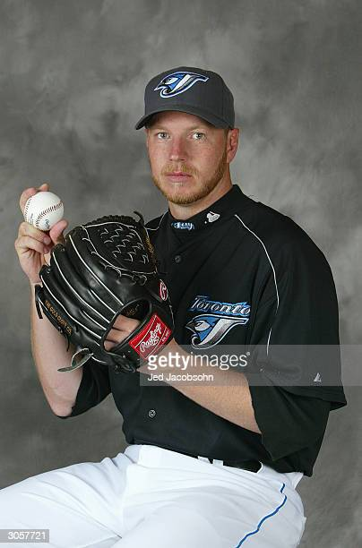 Roy Halladay of the Toronto Blue Jays poses for a portrait during Photo Day at their spring training facility on March 1 2004 in Duneiden Florida