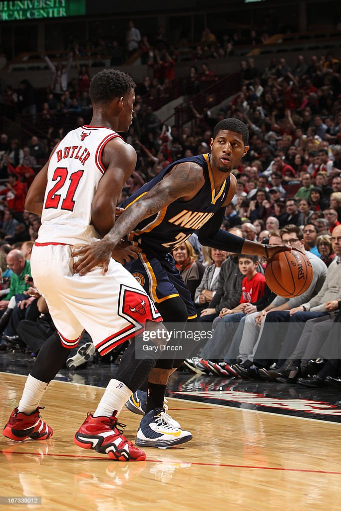 <a gi-track='captionPersonalityLinkClicked' href=/galleries/search?phrase=Roy+Hibbert&family=editorial&specificpeople=725128 ng-click='$event.stopPropagation()'>Roy Hibbert</a> #55 of the Indiana Pacers looks to pass the ball against the Chicago Bulls on March 23, 2013 at the United Center in Chicago, Illinois.