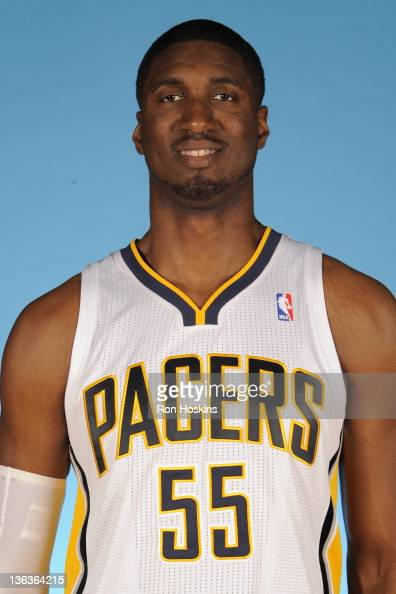 Roy Hibbert of the Indiana Pacers poses for a photo during the media day on December 14 2011 at Conseco Fieldhouse in Indianapolis Indiana NOTE TO...