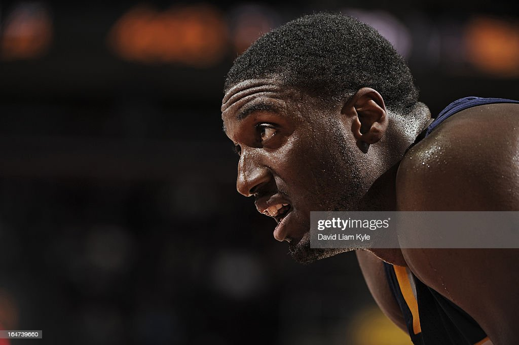 <a gi-track='captionPersonalityLinkClicked' href=/galleries/search?phrase=Roy+Hibbert&family=editorial&specificpeople=725128 ng-click='$event.stopPropagation()'>Roy Hibbert</a> #55 of the Indiana Pacers stands on the court during the game against the Cleveland Cavaliers at The Quicken Loans Arena on March 18, 2013 in Cleveland, Ohio.