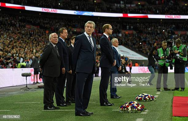 Roy Hodgeson looks on prior to the International Friendly match between England and France at Wembley Stadium on November 17 2015 in London England