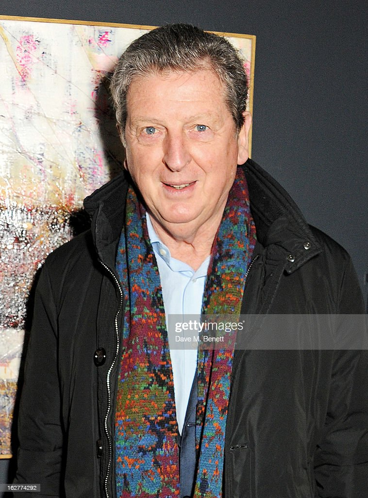 Roy Hodgson attends a private view of Bill Wyman's new exhibit 'Reworked' at Rook & Raven Gallery on February 26, 2013 in London, England.