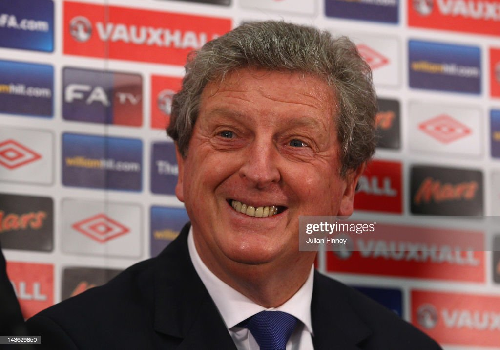 <a gi-track='captionPersonalityLinkClicked' href=/galleries/search?phrase=Roy+Hodgson&family=editorial&specificpeople=881703 ng-click='$event.stopPropagation()'>Roy Hodgson</a> is unveiled as the new England manager during a press conference at Wembley Stadium on May 1, 2012 in London, England.