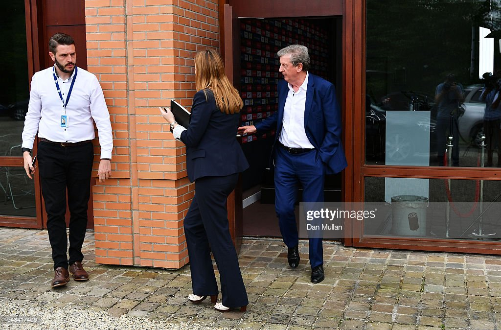 <a gi-track='captionPersonalityLinkClicked' href=/galleries/search?phrase=Roy+Hodgson&family=editorial&specificpeople=881703 ng-click='$event.stopPropagation()'>Roy Hodgson</a> leaves after speaking at a press conference on June 28, 2016 in Chantilly, France.