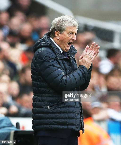 Roy Hodgson manager of Crystal Palace is seen during the Premier League match between Newcastle United and Crystal Palace at St James Park on October...