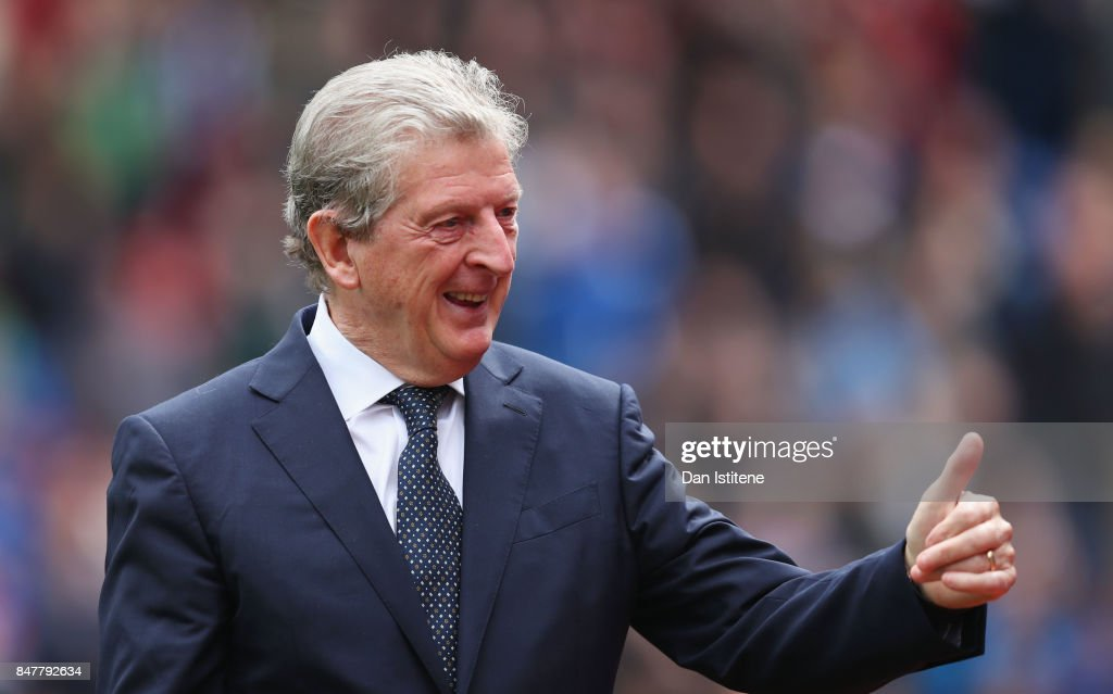 Roy Hodgson, Manager of Crystal Palace shows appreciation to the fans prior to the Premier League match between Crystal Palace and Southampton at Selhurst Park on September 16, 2017 in London, England.