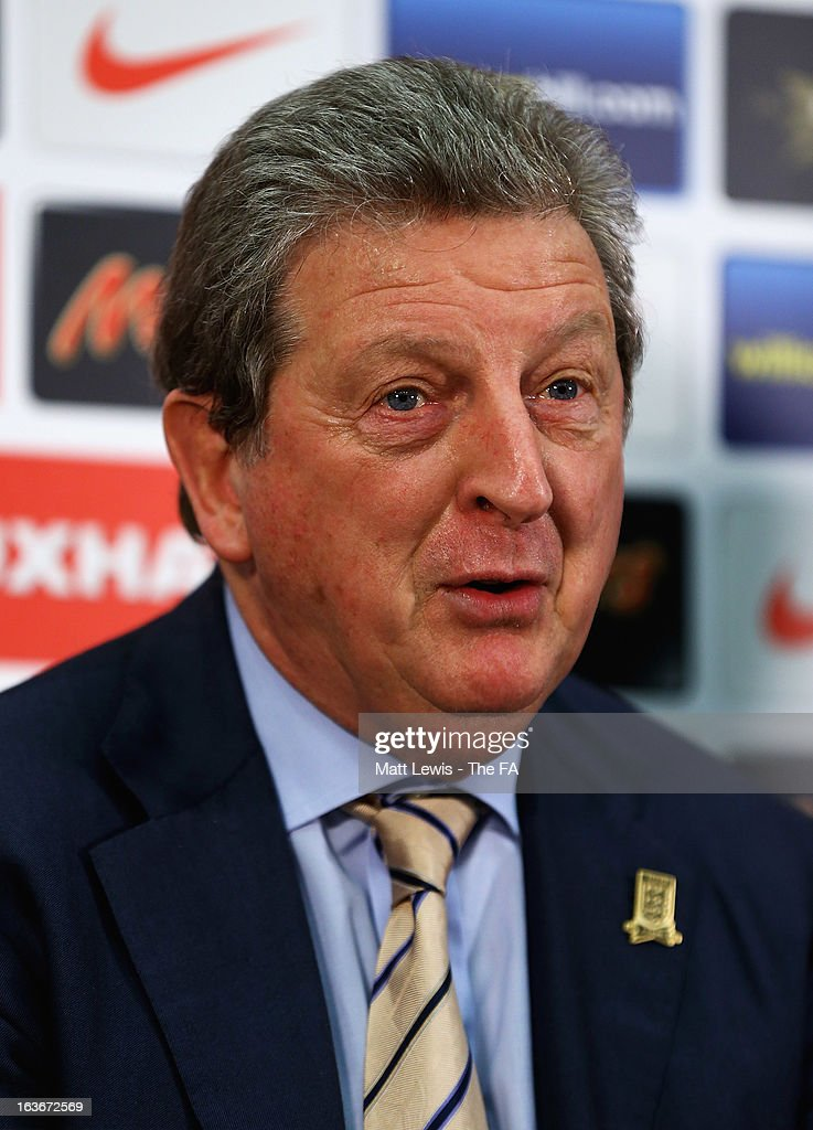 <a gi-track='captionPersonalityLinkClicked' href=/galleries/search?phrase=Roy+Hodgson&family=editorial&specificpeople=881703 ng-click='$event.stopPropagation()'>Roy Hodgson</a>, manager of England announces his England squad ahead of the World Cup qualifiers against Montenegro and San Marino at Wembley Stadium on March 14, 2013 in London, England.